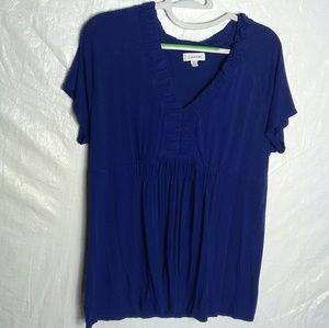 Calvin Klein Women's Blue Blouse Size XL